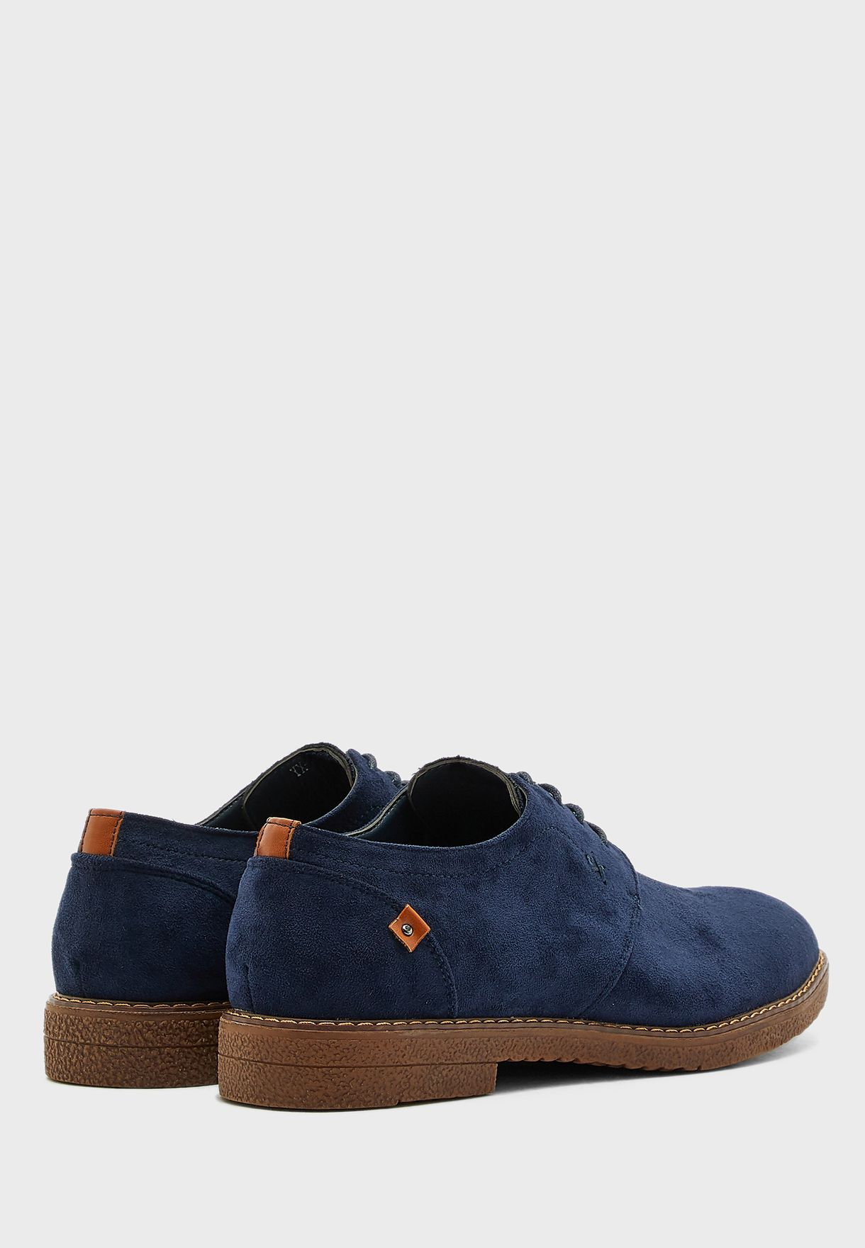 Faux  Suede Casual Lace Ups