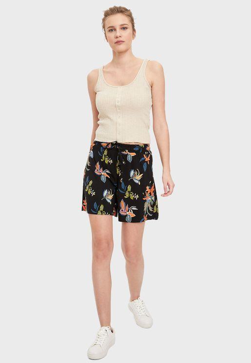 Printed Mini Shorts
