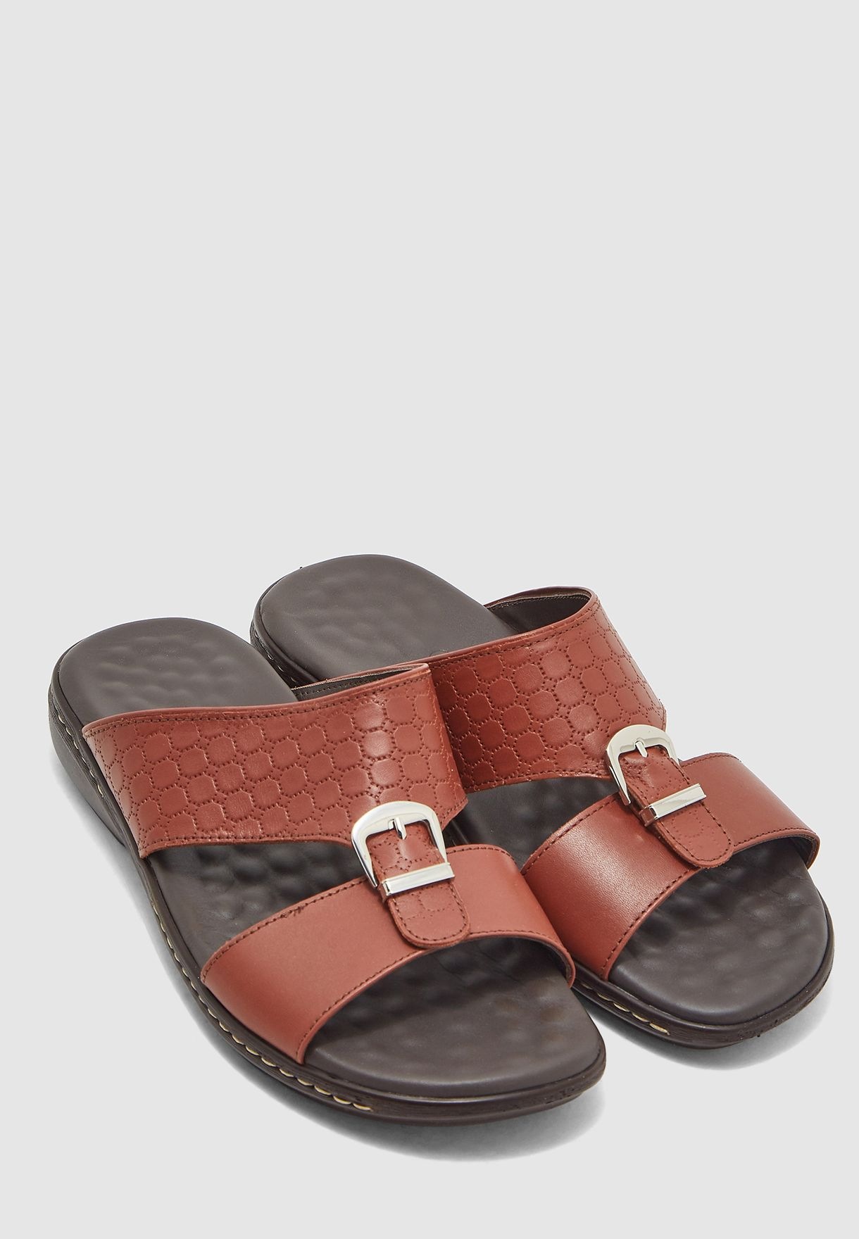 Double Strap Buckled Arabic Sandals