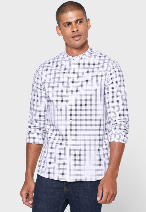 Checked Slim Fit Shirt