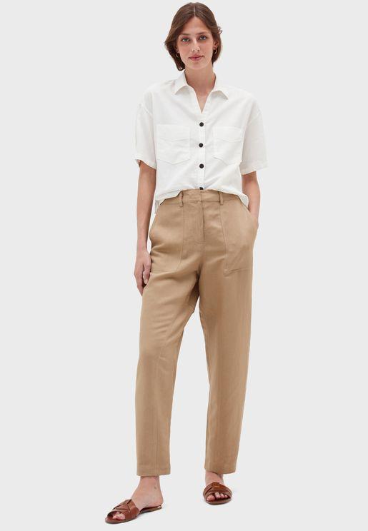 High Waist Tailored Pants
