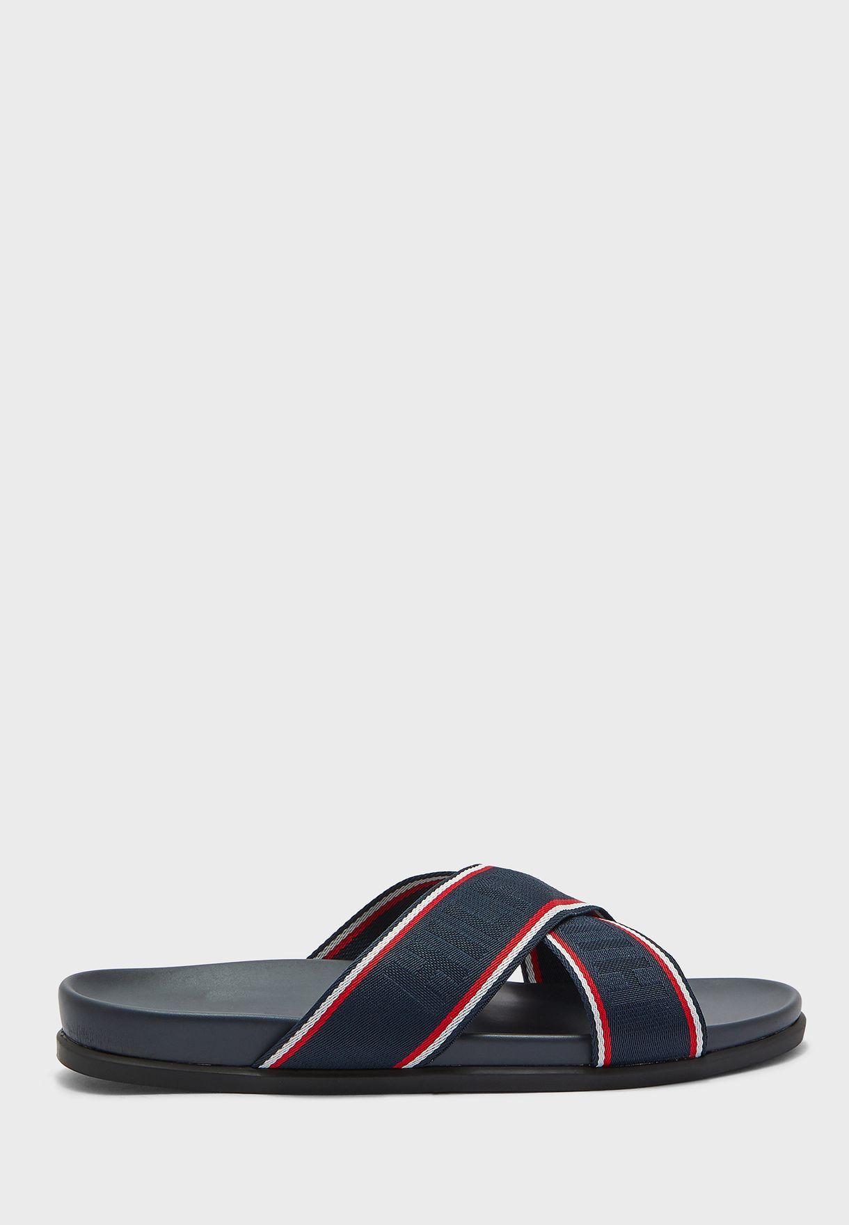 Cross Strap Webbing Sandal