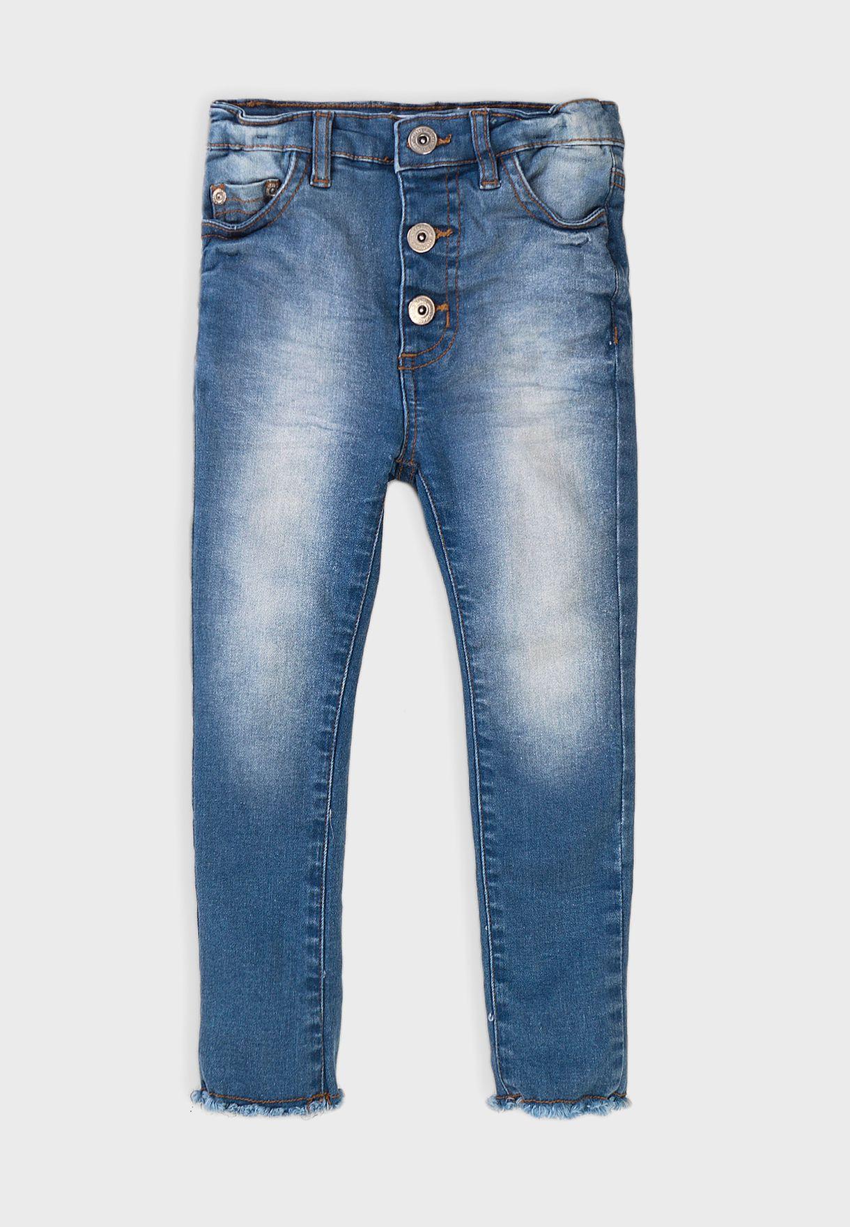Infant High Waist Basic Super Skinny Jeans