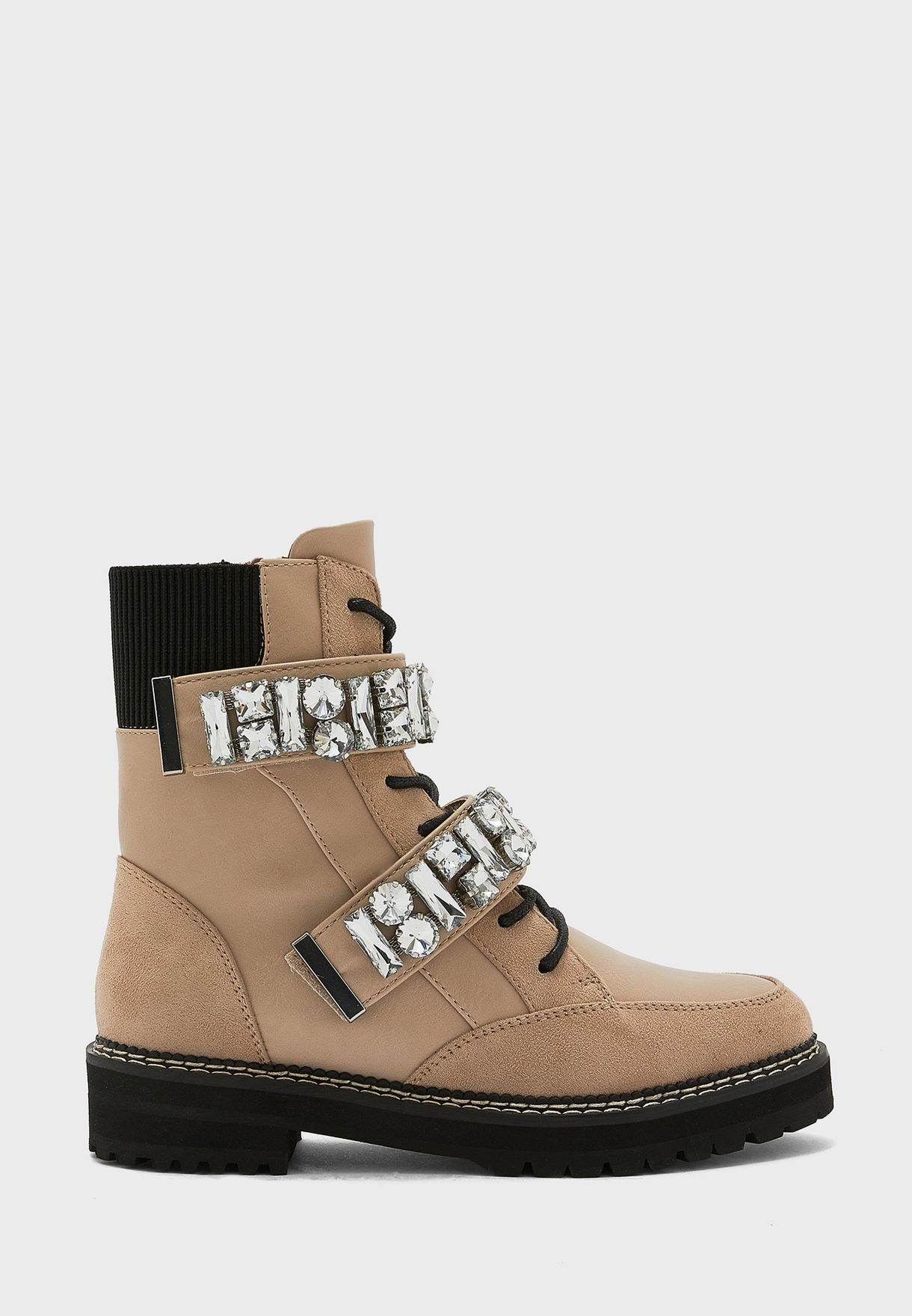 Nepal Embellished Ankle Boot