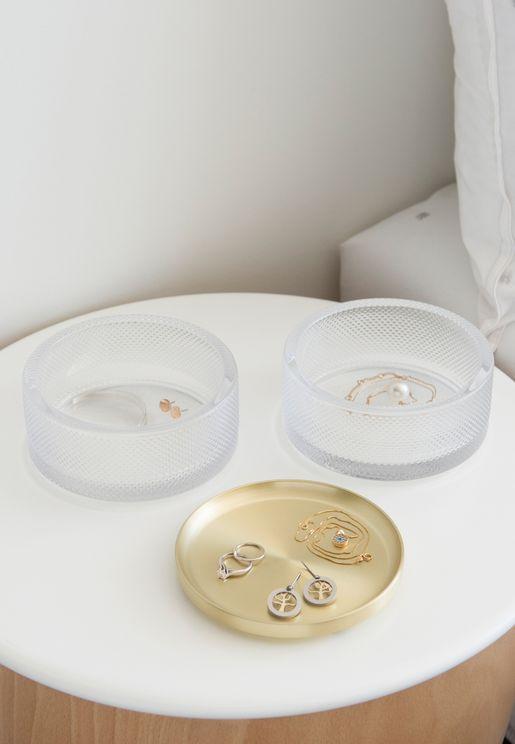 Tesora Box Glass Jewellery Box
