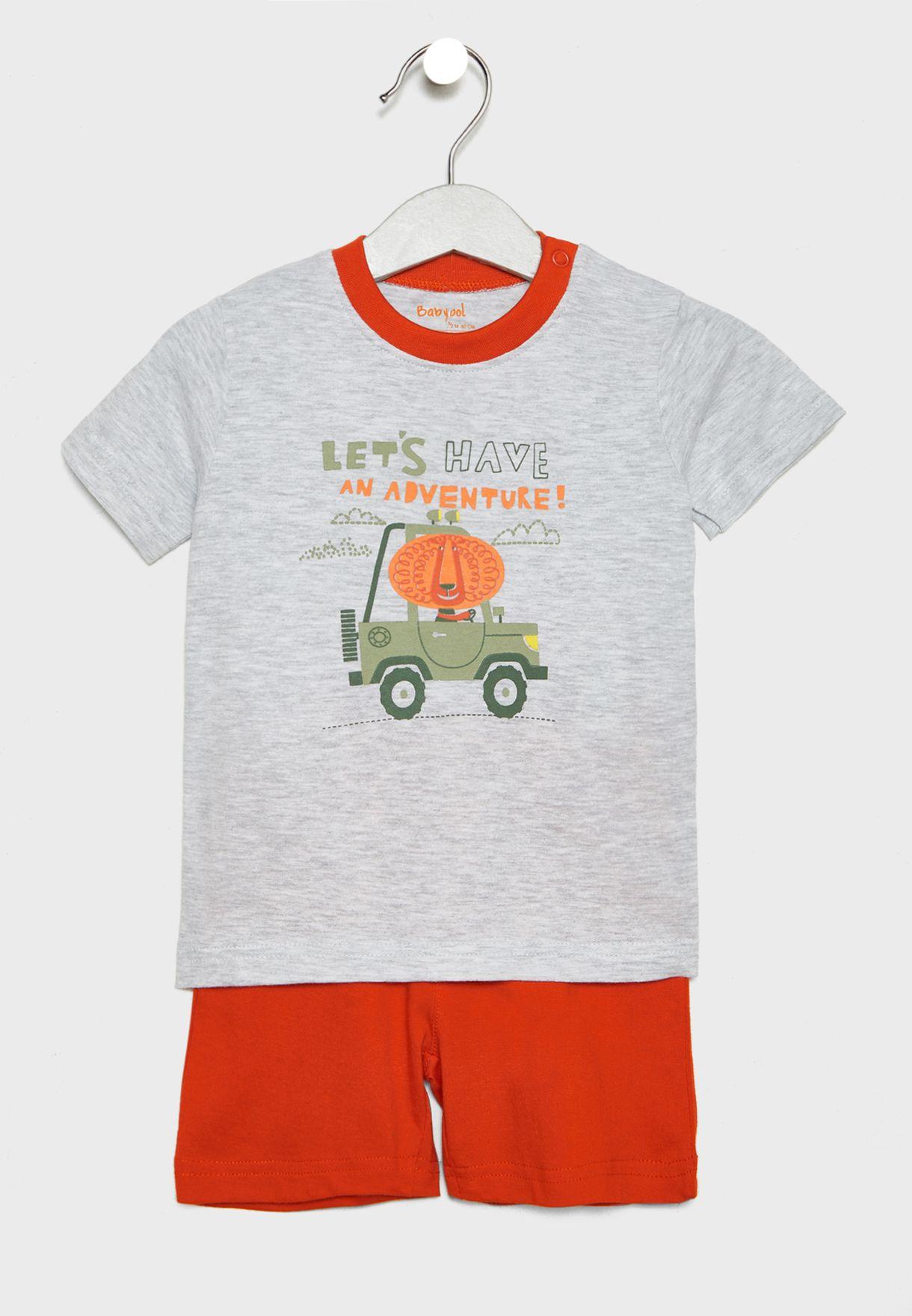 Infant Adventure T-Shirt + Shorts Set