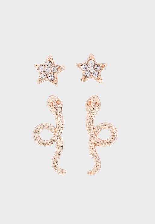 Rose Glow Earrings Set