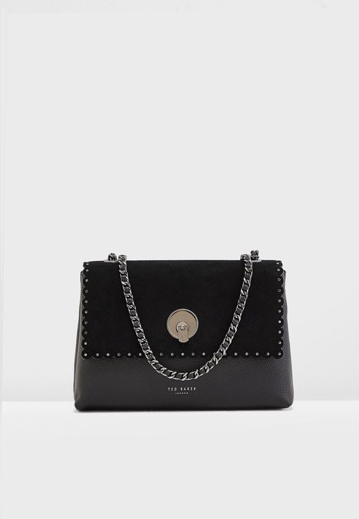 Sultane Studded Circle Lock Crossbody