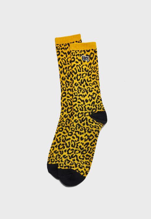 Leo Crew Printed Socks
