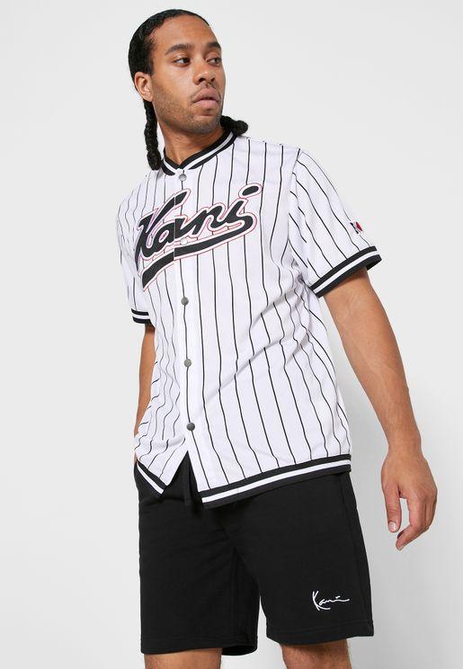 Varsity Pinstripe Baseball T-Shirt