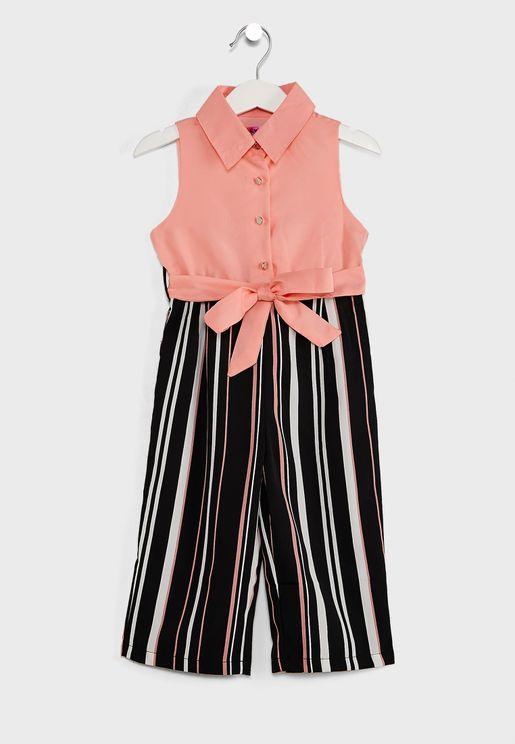 Shirt Striped Jumpsuit