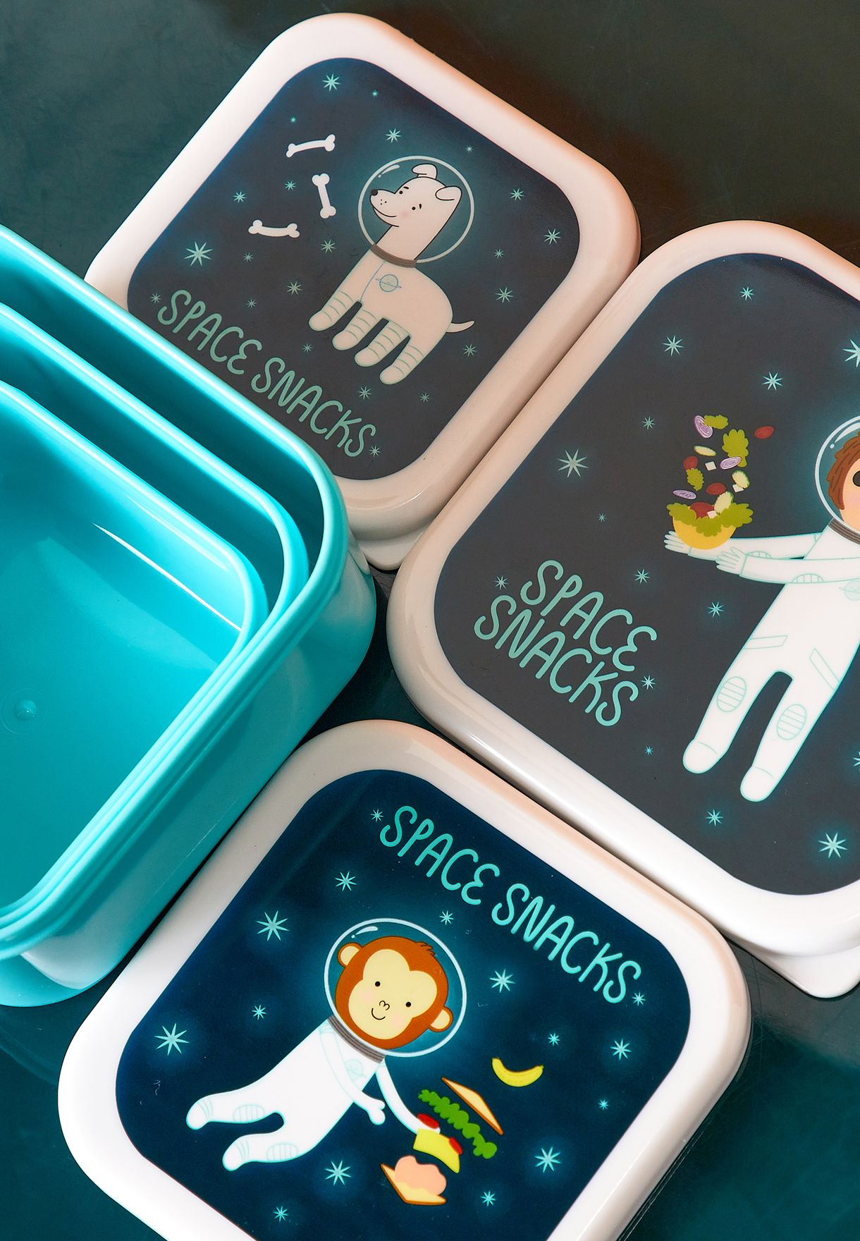 3 Pack Space Explorer Stacking Lunch Box