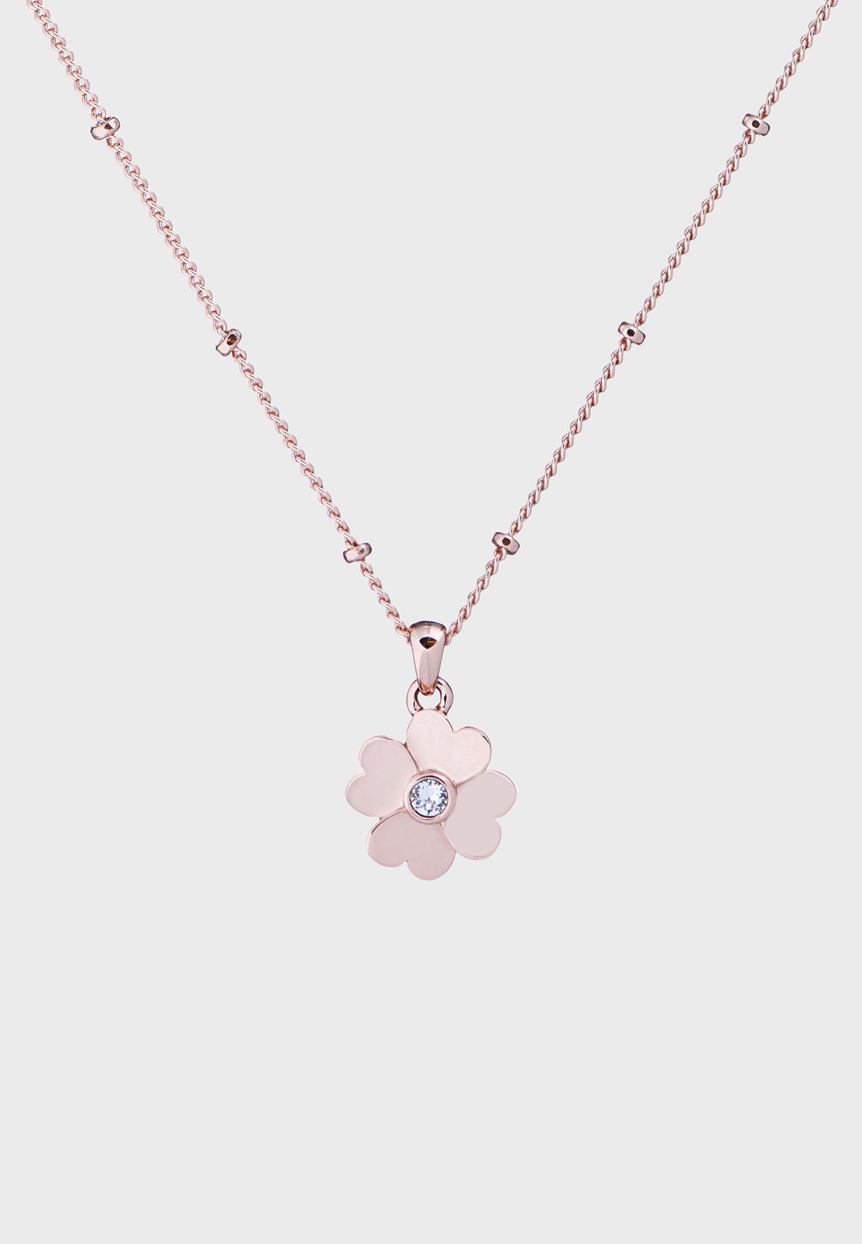 Hamlyi Heart Flower Pendant Necklace