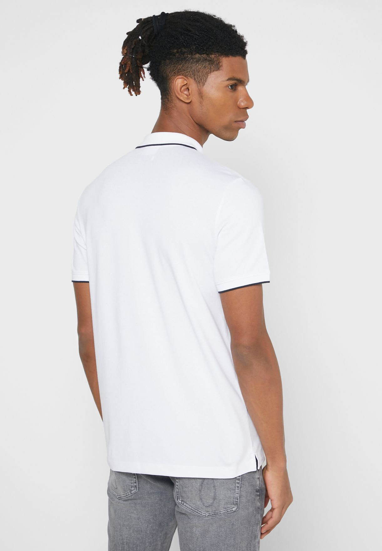 Climate Zip Detail Polo