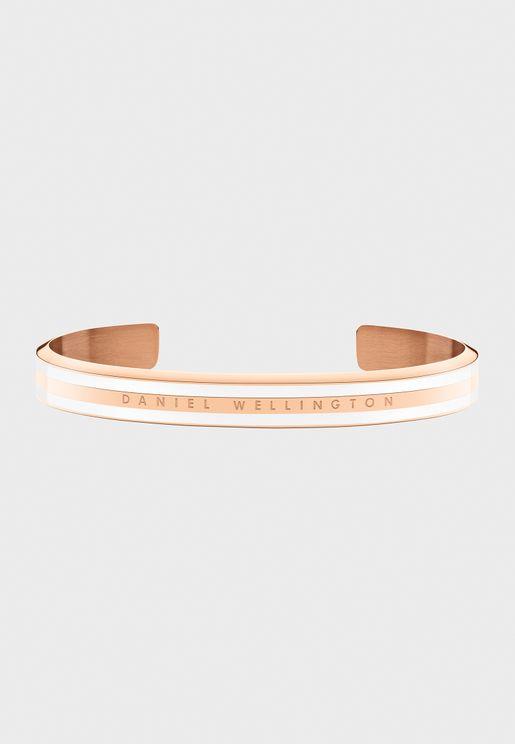 Classic Slim Bracelet Satin White RG