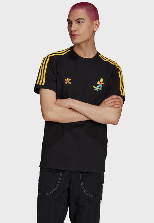 Simpsons 3 Stripe T-Shirt