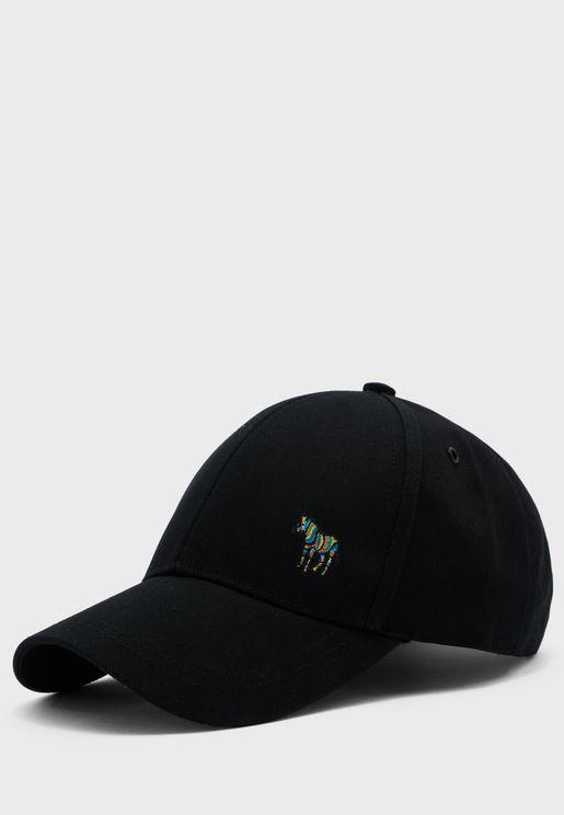 Zebra Printed Curved Peak Cap