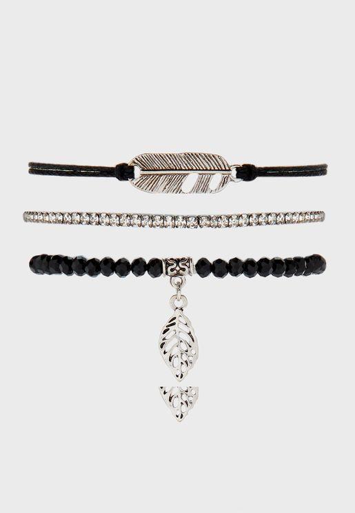 Leaf Bracelet Set
