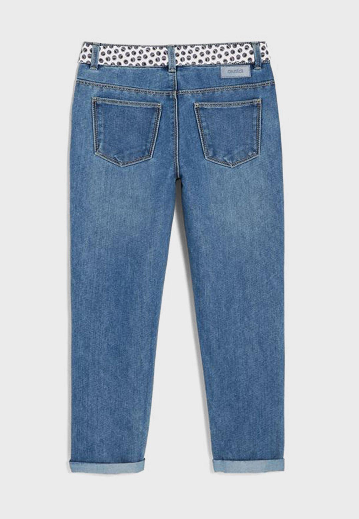 بنطال جينز بحزام