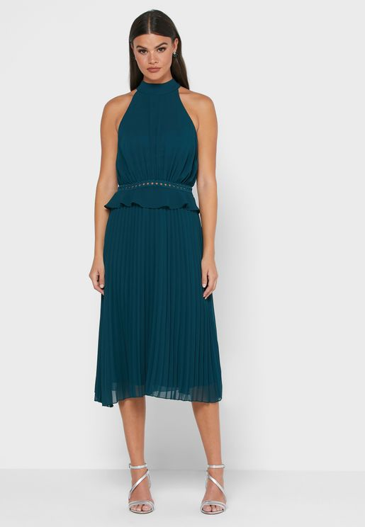 Isabel Halter Neck Shift Dress
