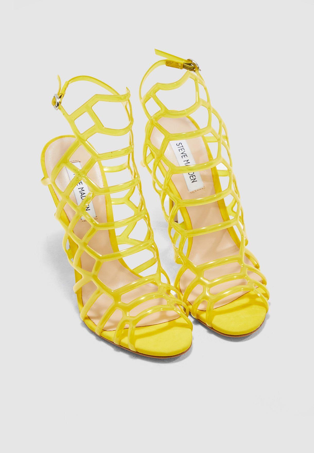 de60460e70e Shop Steve Madden yellow Score Heel Sandal SCORE for Women in ...