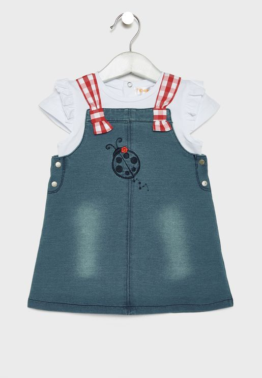 Kids Denim Dress Set