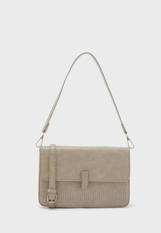 Textured Shoulder Strap Handbag