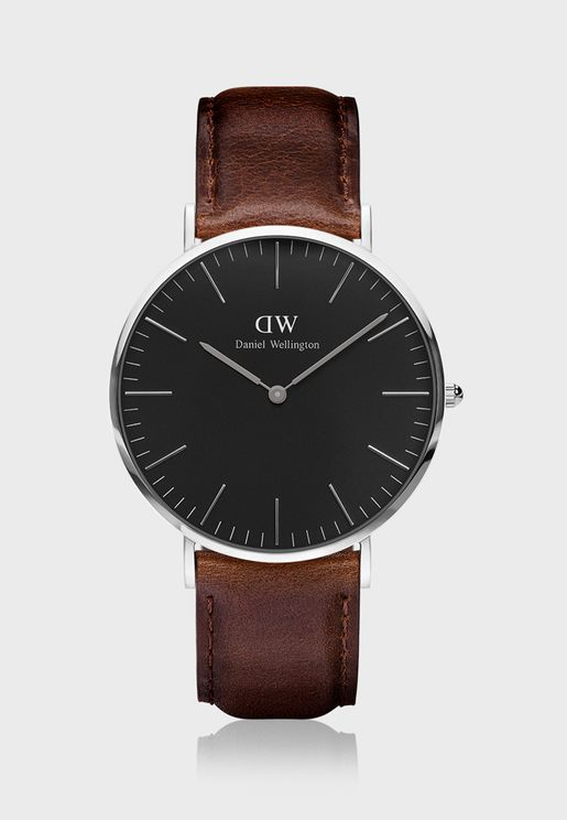 Classic Bristol Silver Black 40mm Watch