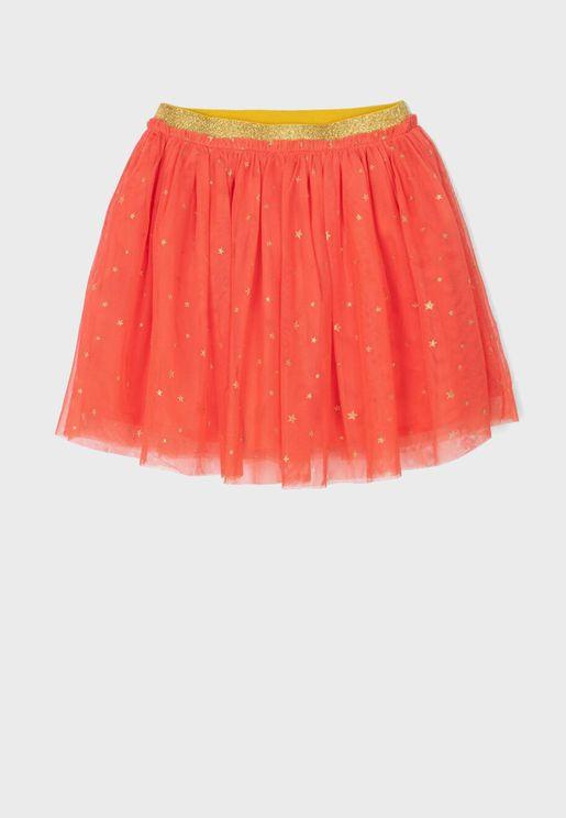 Kids Tulle Shimmer Skirt