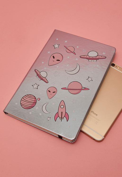 A5 Metallic Space Notebook