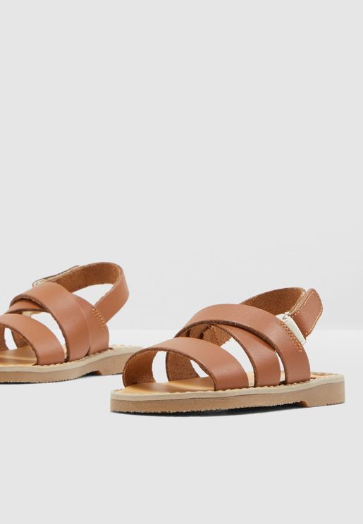Kids Cross Strap Sandal