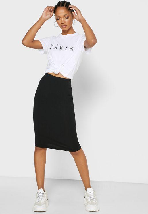High Waist Bodycon Skirt