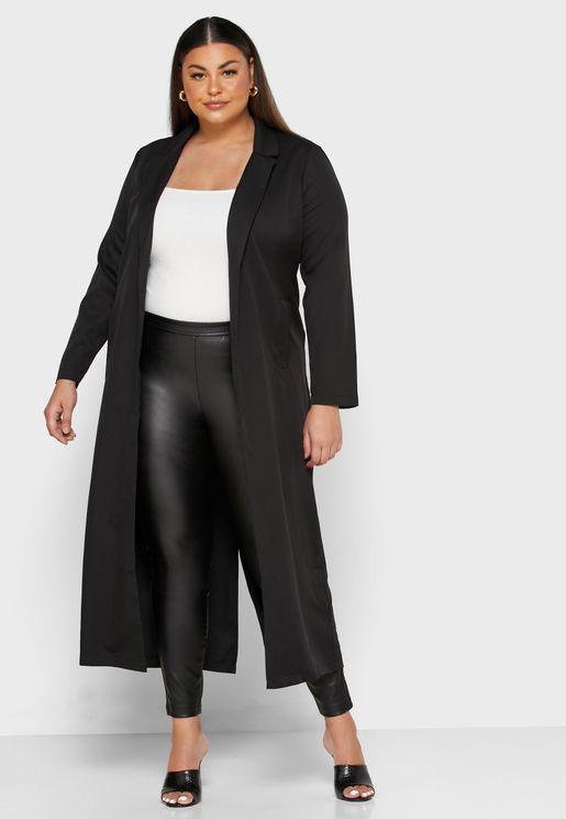 Pocket Detail Longline Jacket