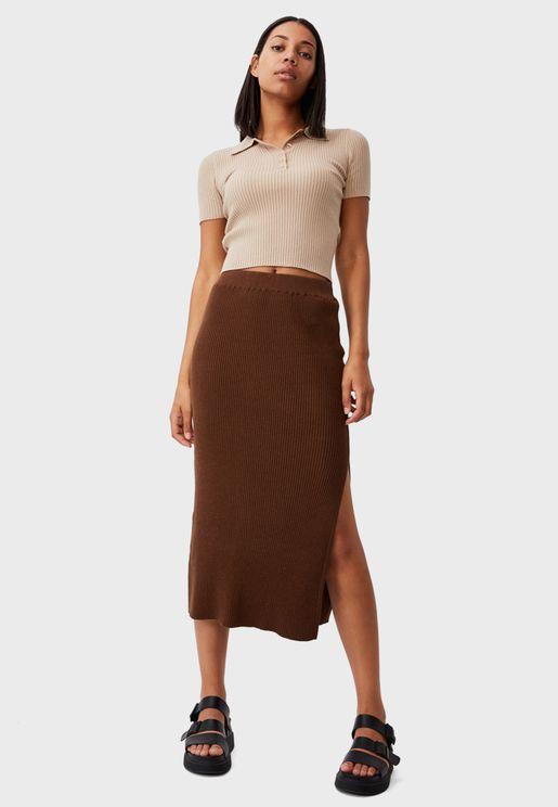 Stella Knit Midi Skirt