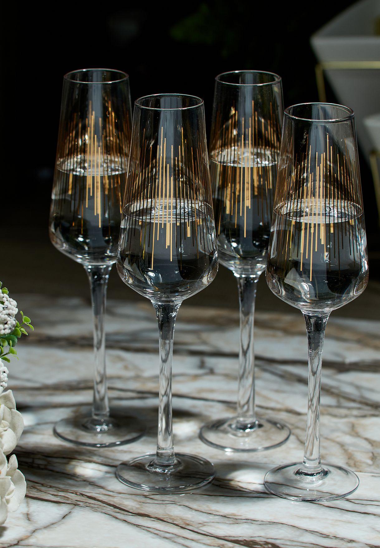 مجموعة اكواب زجاجية عدد 4