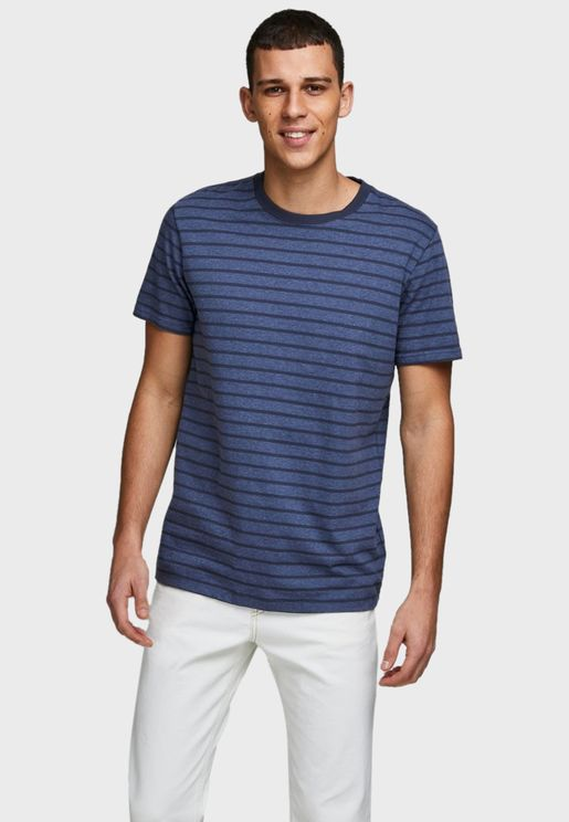 Striped Slim Fit Crew Neck T-Shirt