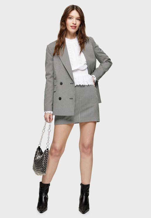 Dogtooth Mini Skirt