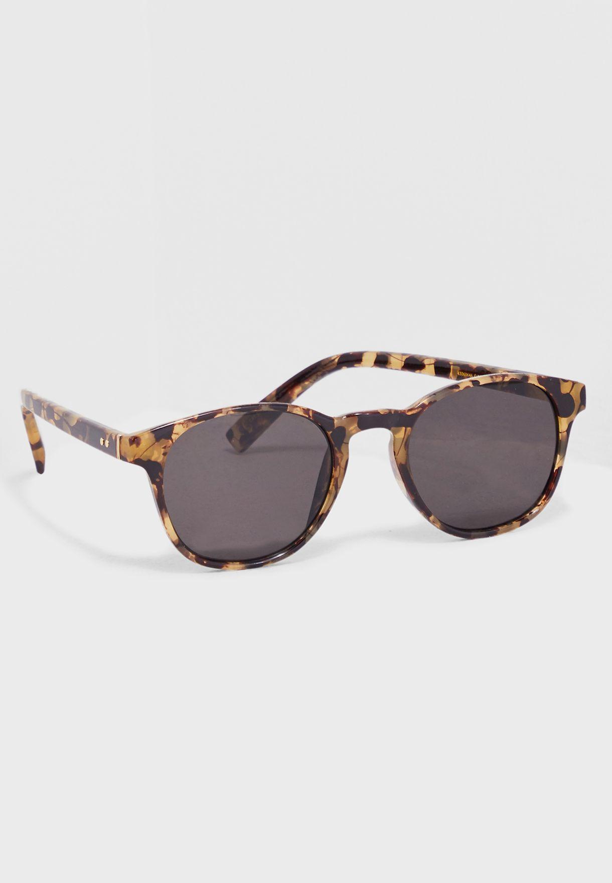 6a49a45d4b Shop Mango Man prints Tortoiseshell retro sunglasses 43060646 for ...