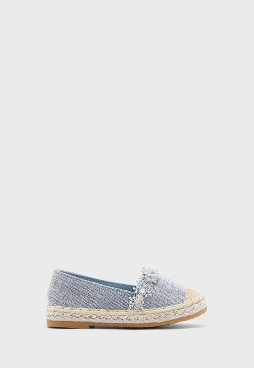 حذاء باليرينا مزين بازهار