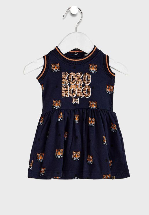 فستان مطبع للاطفال