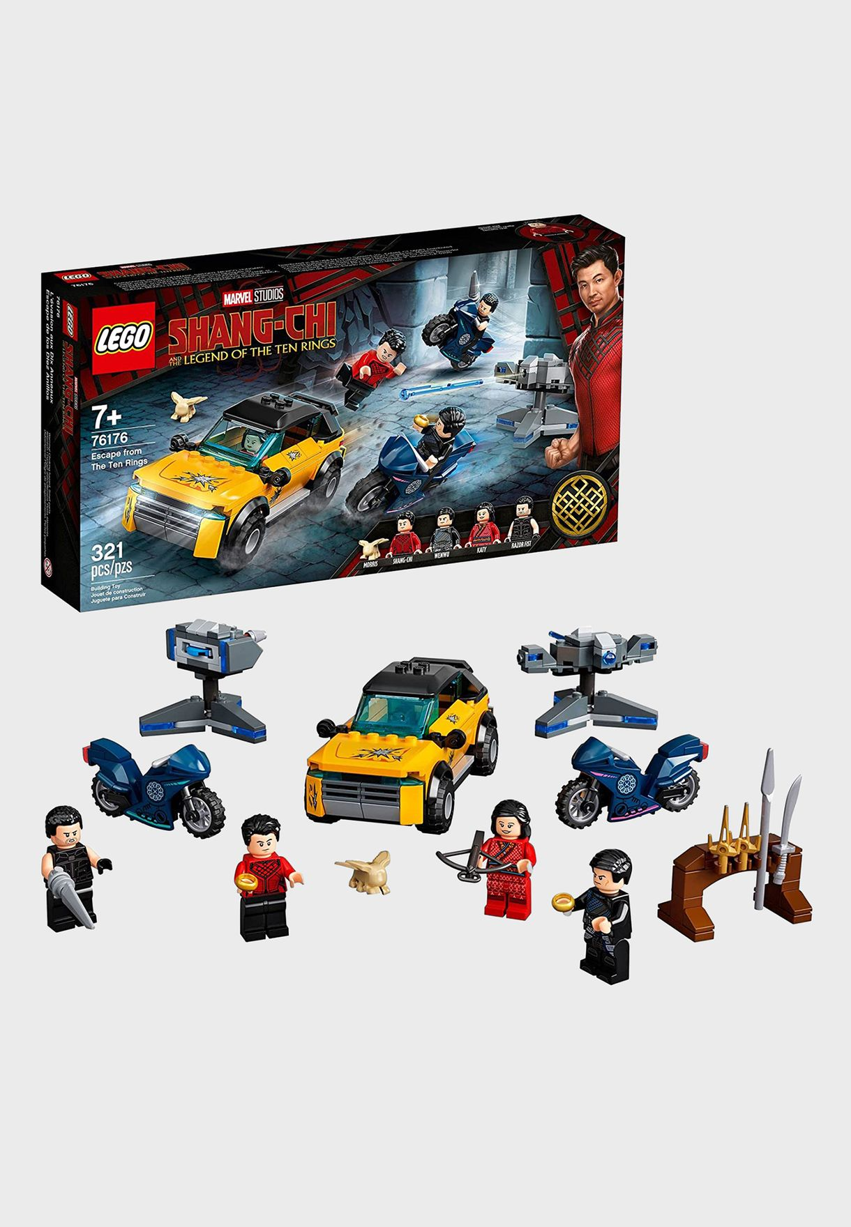 Marvel Shang-Chi Escape From The Ten Rings Set