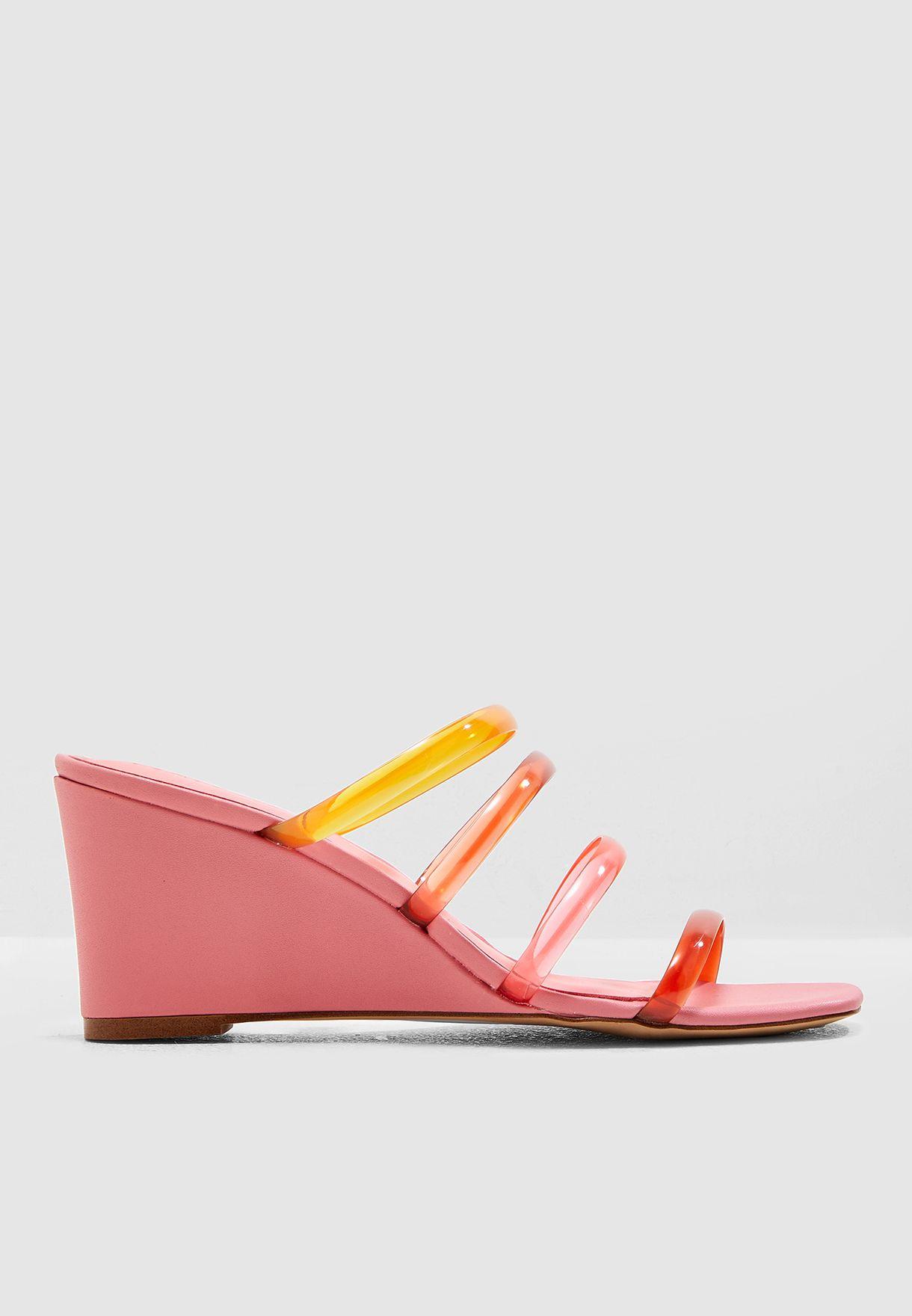 58dccf3ab64 Shop Mango pink Tortili Sandal 43007747 for Women in Bahrain ...