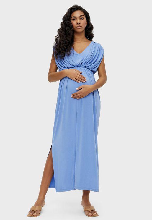 فستان ماكسي جيرسيه
