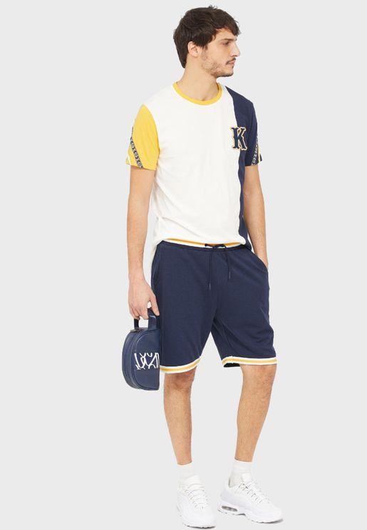 Contrast Hem Shorts