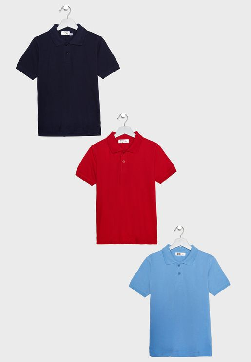 3 Pack Polo