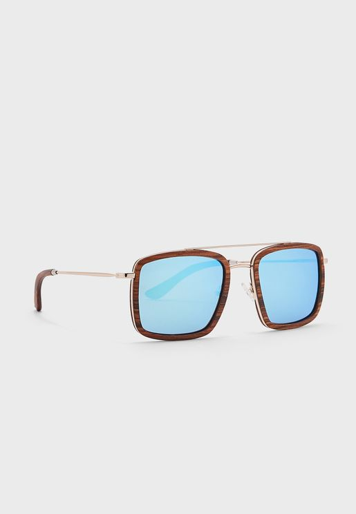 Tony Stark Wooden Sunglasses