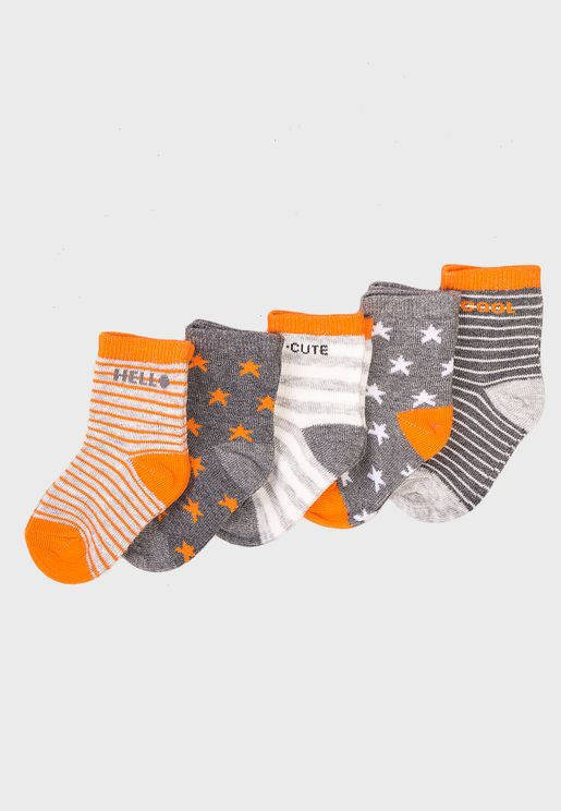 Infant 5 Pack Cute Cool Socks