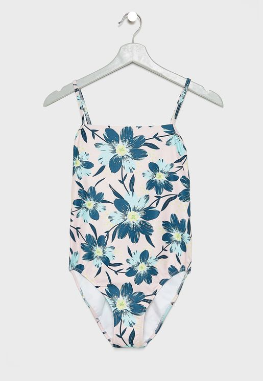 Flores Printed Swimsuit