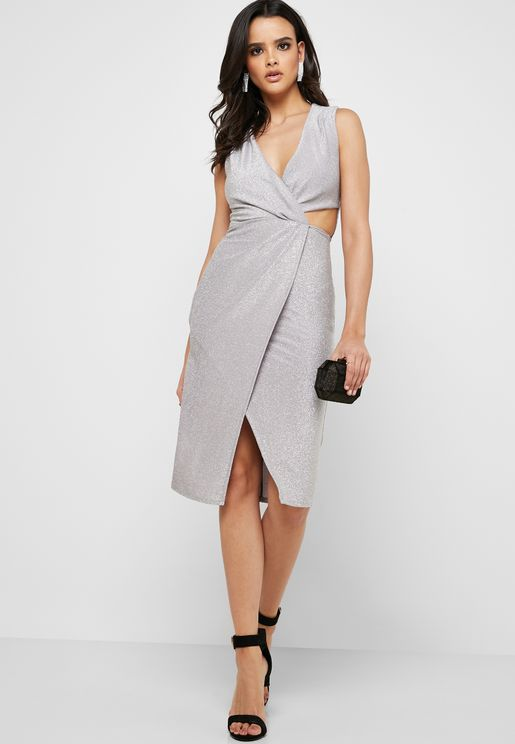 Front Slit Cut Out Dress