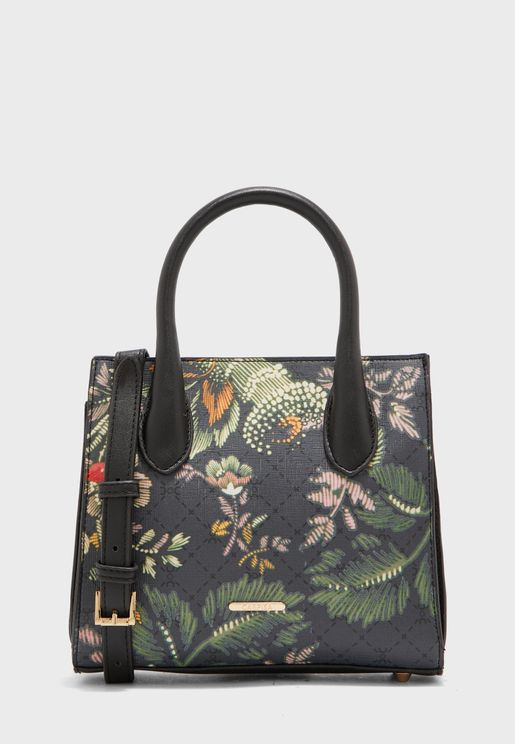 Printed Top Handle Tote